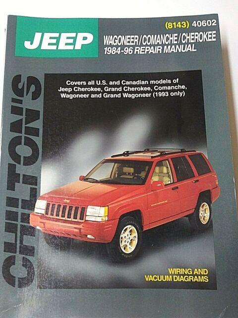 Chilton U2019s Jeep Wagoneer  Comanche  Cherokee 1984