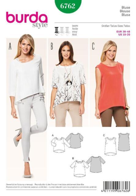 Burda Schnittmuster Shirt 6762 | eBay
