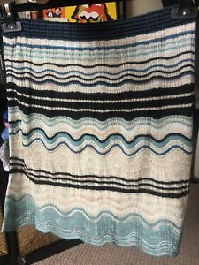 S Affare m Zigzag Wave Missoni verde toni blu Adatto nei Skirt per gRxvgw74qU