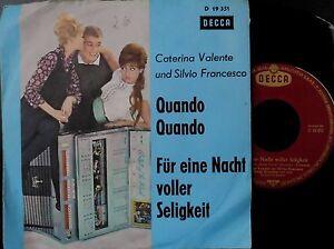 Catarina-Valente-Quando-Quando-Eine-Nacht-voller-Seligkeit-7-034-Vinyl-1962-Germany