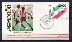 S13565-Mexico-7-6-1986-FDC-Fifa-Wc-Football-Mexico-Paraguay
