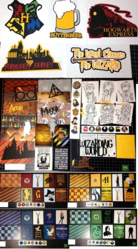 Harry Potter Scrapbook Kit BUNDLE Wizarding World Paper die cuts Project Life
