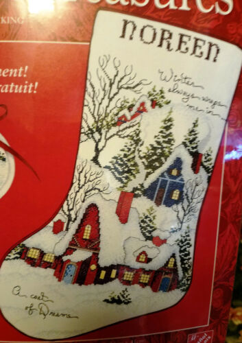 Cross Stitch Christmas Stocking Kits New Old Stock ~ Sealed