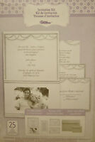 Wilton Wedding Invitation Kit With Pocket Photo Silver White 25 Sets Per Kit