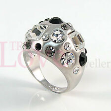 18K Fashion White Gold Plated Ring Use Swarovski Crystal RP0043 Free Gift Pouch