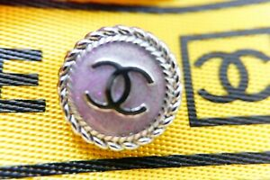 100-Chanel-buttons-10-pieces-Metal-logo-CC-0-6-inch-or-16-mm-pink