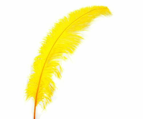 """3 GOLD Ostrich SPADS 20-30/"""" Full Wing Feather PLUMES; Wedding//Centerpiece"""