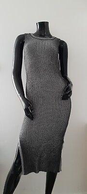 44 taupe Minikleid langarm Feinstrick Kleid Casual Strickkleid AJC Gr