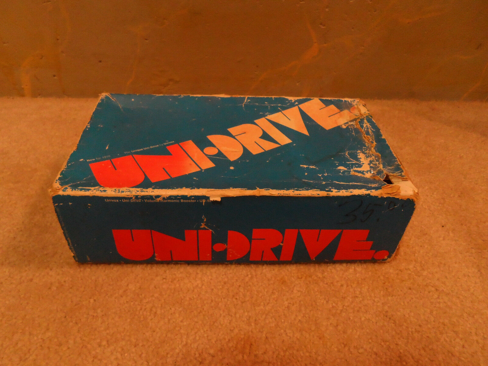 Original Vintage Univox Uni-Tron Gitarren-Pedal Verpackung