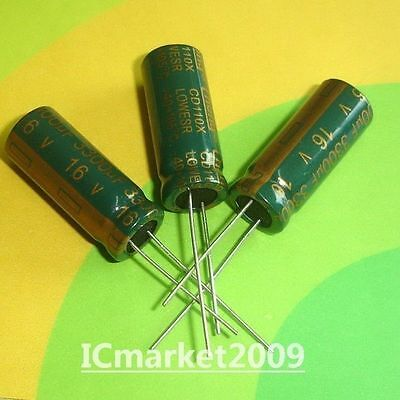 10pcs High quality electrolytic capacitor 16v//3300uf 13X21mm