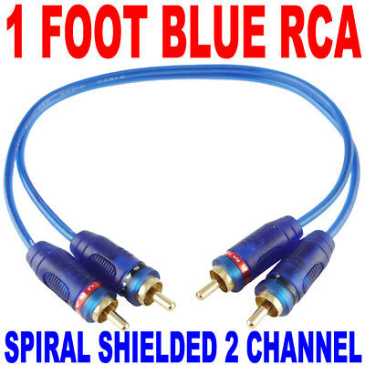 3x 3 Foot Ft Gold Plated Blue Rca Jack Interconnect Signal Twisted Cables 3 Pc