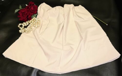 "Retro Half Slip Skirt Petticoat Underskirt Vintage Length 19"" Size 12-14 Nude"