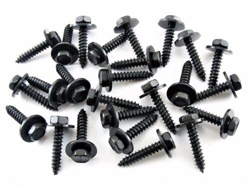 #224 M4.2 x 20mm Long AMC Black Trim Screws Qty.25 12mm Washer 7mm Hex