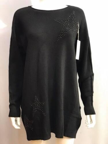 New Ladies Lagenlook Boho Casual Soft Knitted Star Design Jumper Winter Shawl
