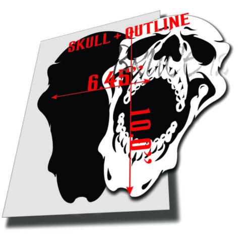 #166 Screamer SKull Airbrush Stencil 1 Layer Outline