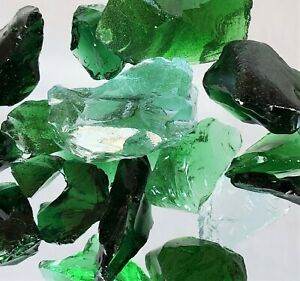 """1.5/"""" Turquoise 2 Pounds Medium .5/"""" Crushed Glass for Tumbling"""
