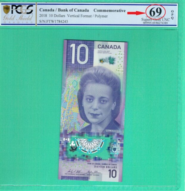 Original Canada 5 Dollars 2002 P-101 UNC Banknotes