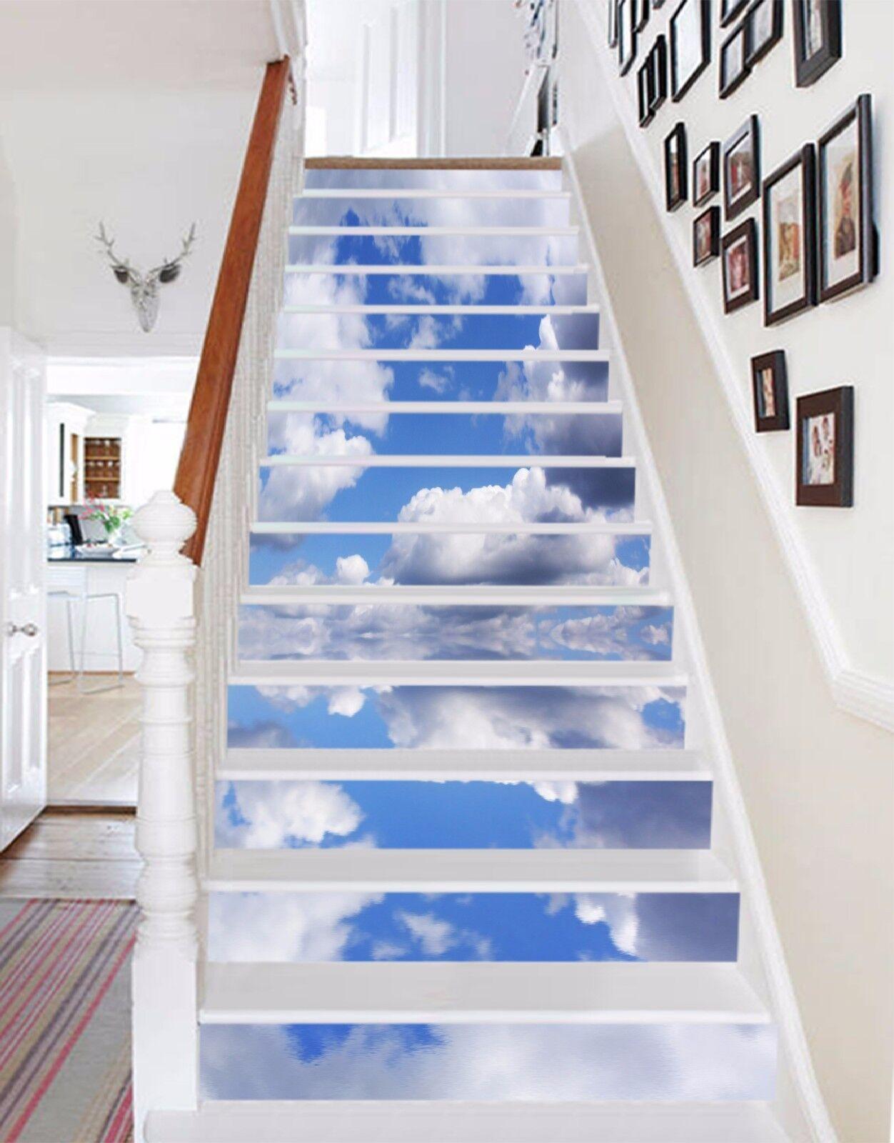 3D Sea Clouds 710 Stair Risers Decoration Photo Mural Vinyl Decal Wallpaper AU