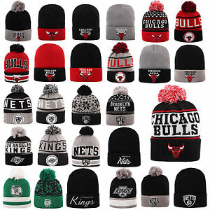 MITCHELL-amp-NESS-AND-BEANIE-WINTER-MUTZE-CAP-CHICAGO-BULLS-KINGS-NETS-CELTICS