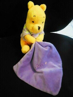 Doudou plat Winnie violet luminescent étoile nuage Disney Nicotoy NEUF
