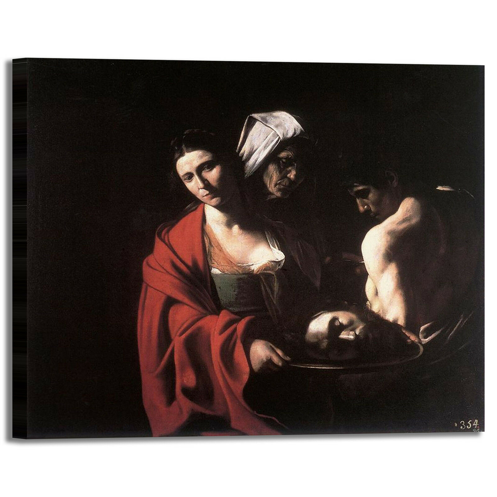 Caravaggio Salomè testa con la testa Salomè Battista quadro stampa tela dipinto arRouge o casa 525712