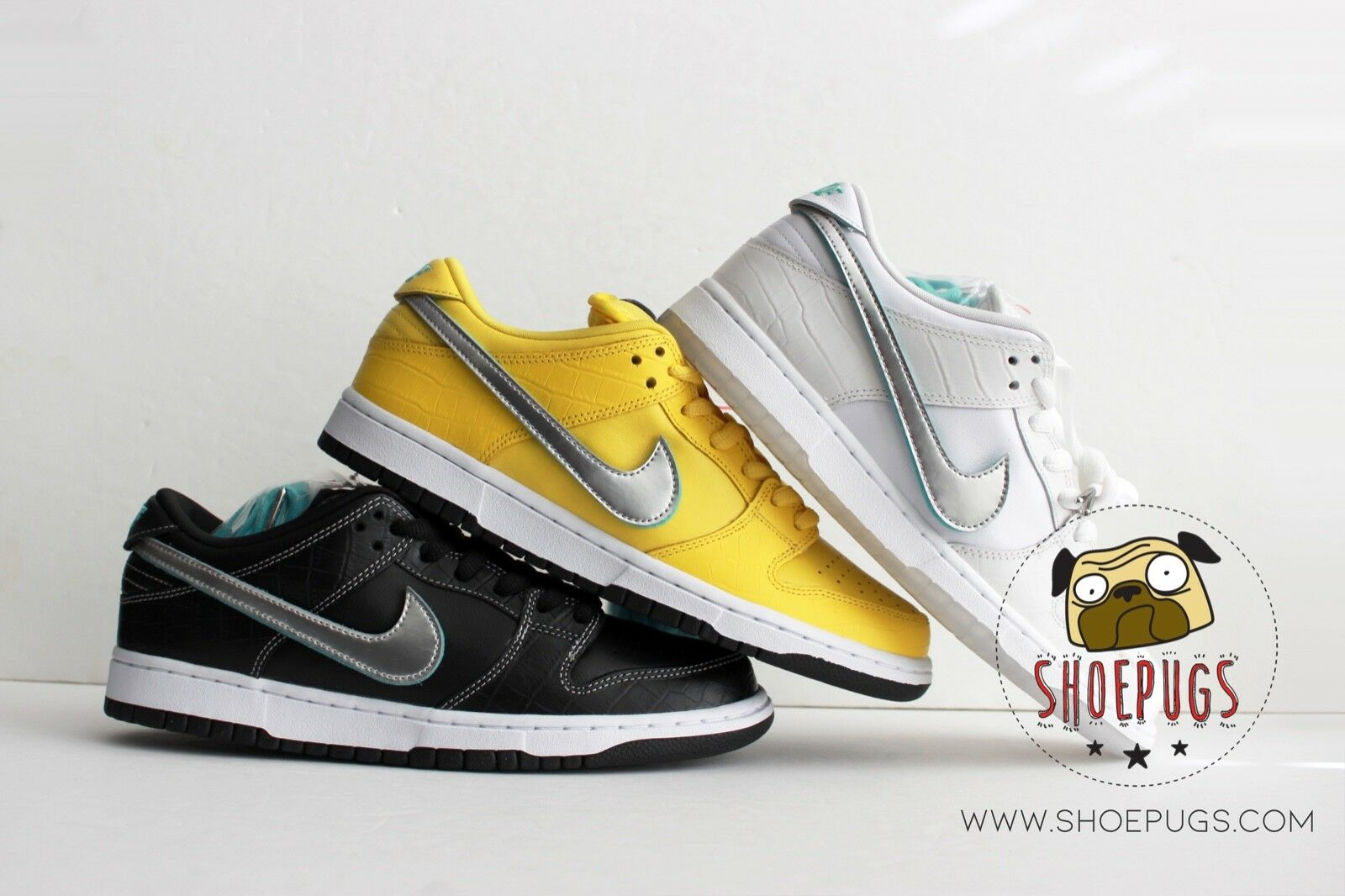 DS Nike Dunk SB Low DIAMOND Set size 9 lot bundle canary tiff    TRUSTED SELLER