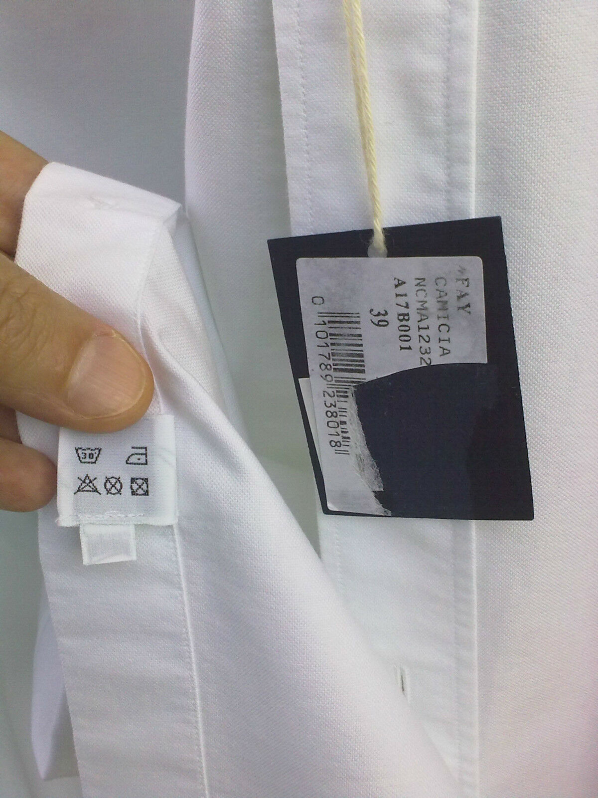 Camicia bianca FAY-TOD'S GROUP,Tg.M-collo 39,100% MADE MADE MADE IN ITALY,PERFETTA  d787d8