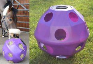 Purple-Equine-Horse-or-Pony-Hay-Ball-Treat-Feeder-NEW