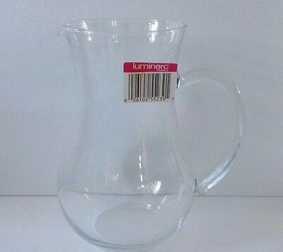 """Luminarc France Clear Glass Juice Drink Beverage Pitcher New with Tag - 8 """" tall"""