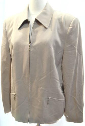 Størrelse Zip Stevens Jakke Ull 12 Valerie Chic Blazer Pure Coat Beige Womens L Euc CwdTYv