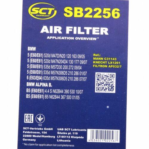 Luftfilter Fahrzeugfilter SB2256 Motorluftfilter Luft Filter BMW SCT