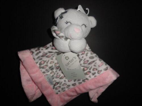 NWT Carter/'s Girl/'s Cheetah Bear Pink Security Blanket//Lovey