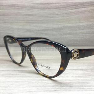 7070a3a7b201 Versace Mod 3246-B 3246 B Eyeglasses Dark Havana 108 Authentic 52mm ...