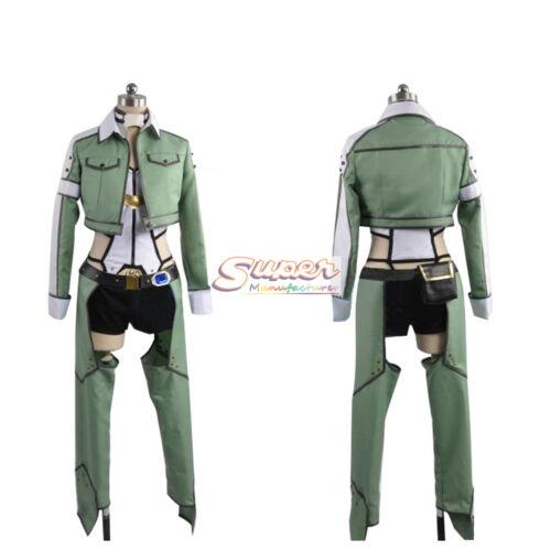 Sword Art Online II SAO Phantom Bullet Shino Asada Sinon Uniform Cosplay Costume