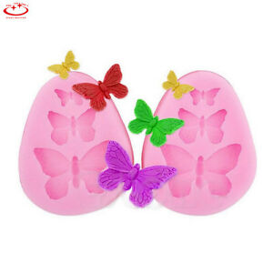 3D Butterfly Bow Silicone Fondant Mold Cake Decorating Sugarcraft Baking Mould