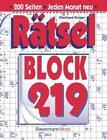 Rätselblock 219 von Eberhard Krüger (2016, Gebundene Ausgabe)
