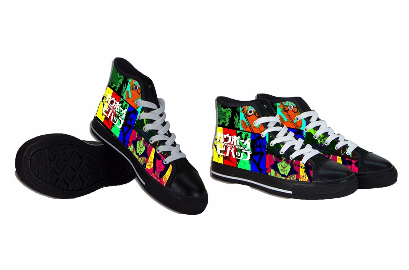 NEW The Cowboy Bebop Anime Canvas Mens Shoes RARE ITEMS