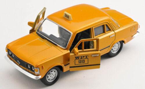 BLITZ VERSAND Fiat 125p TAXI WPT orange Welly Modell Auto 1:34 NEU /& OVP