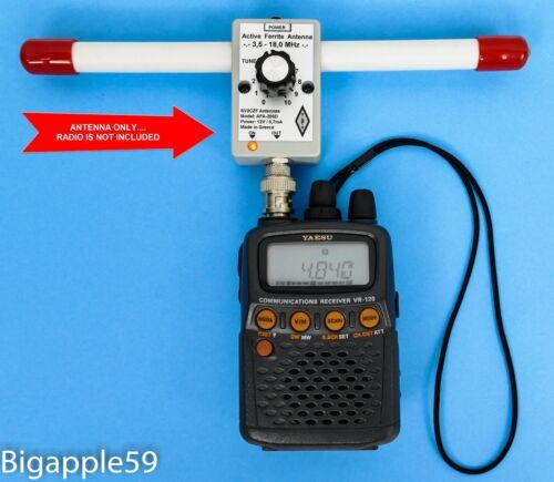 Active Ferrite Antenna 1.5-7.5 MHz For Icom IC-R20  AOR AR8200 Alinco DJ-X11