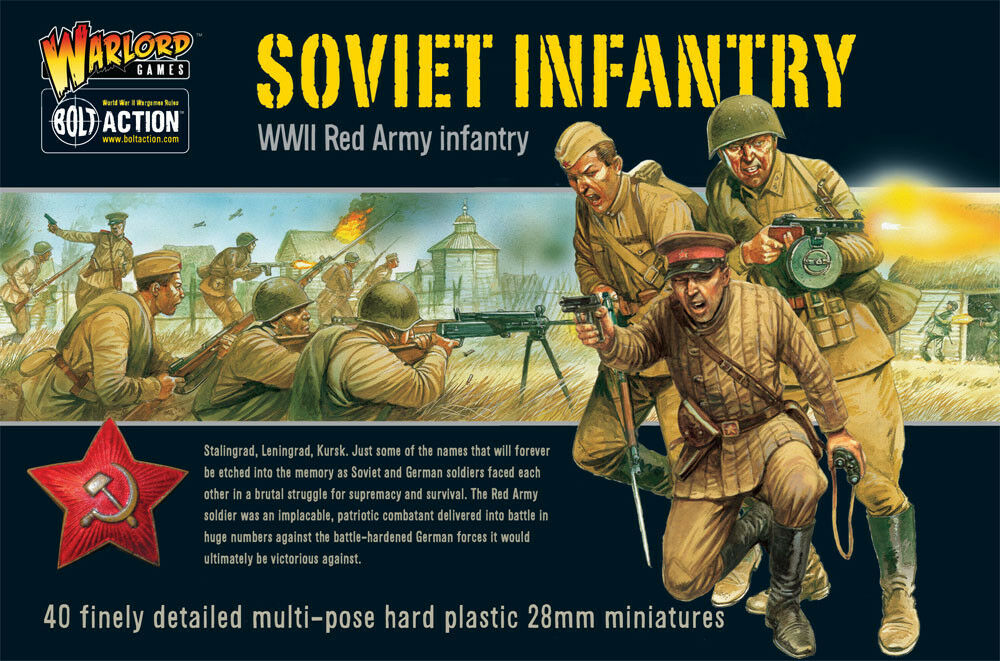 Bolt Action WWII Soviet Infantry (Warlord Games) NEW