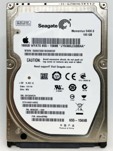 "160GB Fujitsu Seagate WD Toshiba Hitachi  2.5/"" HDD Laptop Hard Drive for PC MAC"