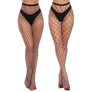 Charmnight-Womens-High-Waist-Tights-Fishnet-Stockings-Thigh-High-Pantyhose-2