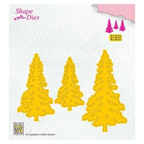 SD167 Kiefern // Pinetrees Shape Dies von  Nellies Choice Stanzschablone