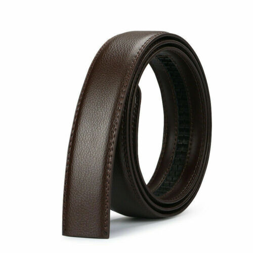Luxury Ratchet Automatic Black Strap Men/'s Belt Brown Buckle Leather Jeans