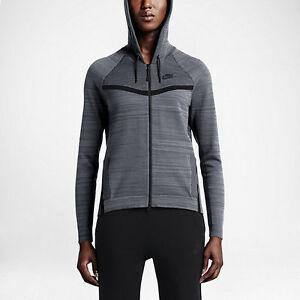 Détails sur Nike womens tech knit Coursevent veste gris taille m l xl 728683 043 afficher le titre d'origine