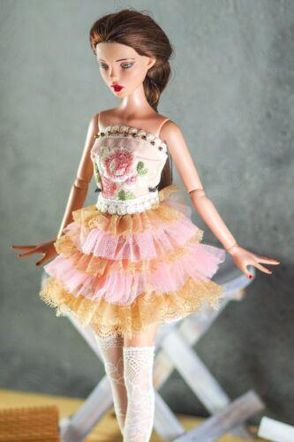 "Ellowyne Wilde Deja Vu Antoinette 16"" doll Outfit Fashion Rose Vintage Dress"