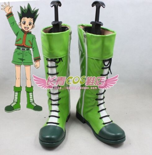 HUNTER HUNTER GON FREECSS cosplay shoes Boots Custom Made ////VB