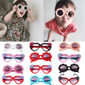 78bbadee4647f 2Pcs Baby Kid Boys Girls Cute Flower UV400 Sunglasses Round Goggles ...