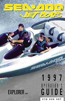 Sea-doo Explorer,1997 Owners Manual Paperback Free Shipping