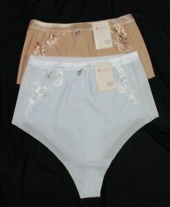 032 M-Mala Damen Slip hoher Taille ohne Naht M L XL XXL